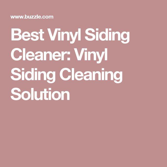 Homemade Vinyl Siding Cleaner