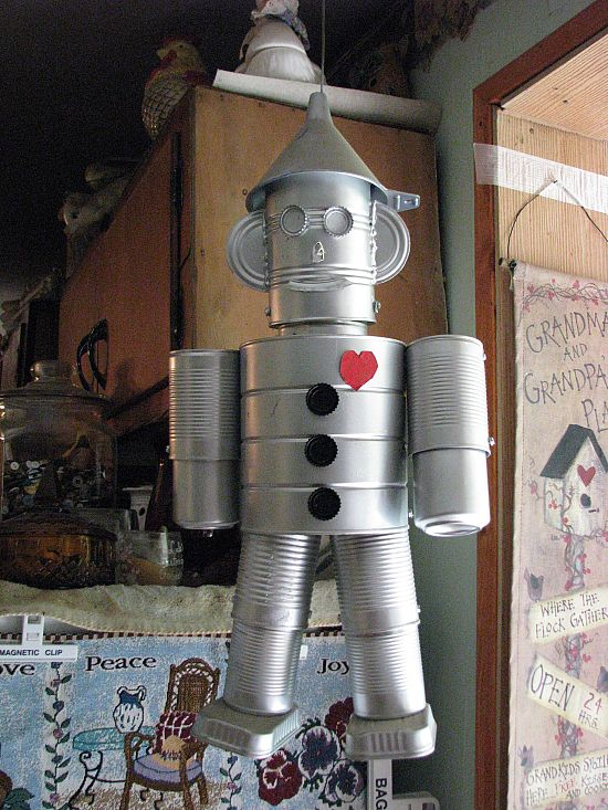 Mert has a tin man made from cans much like this one for Tin man out of cans