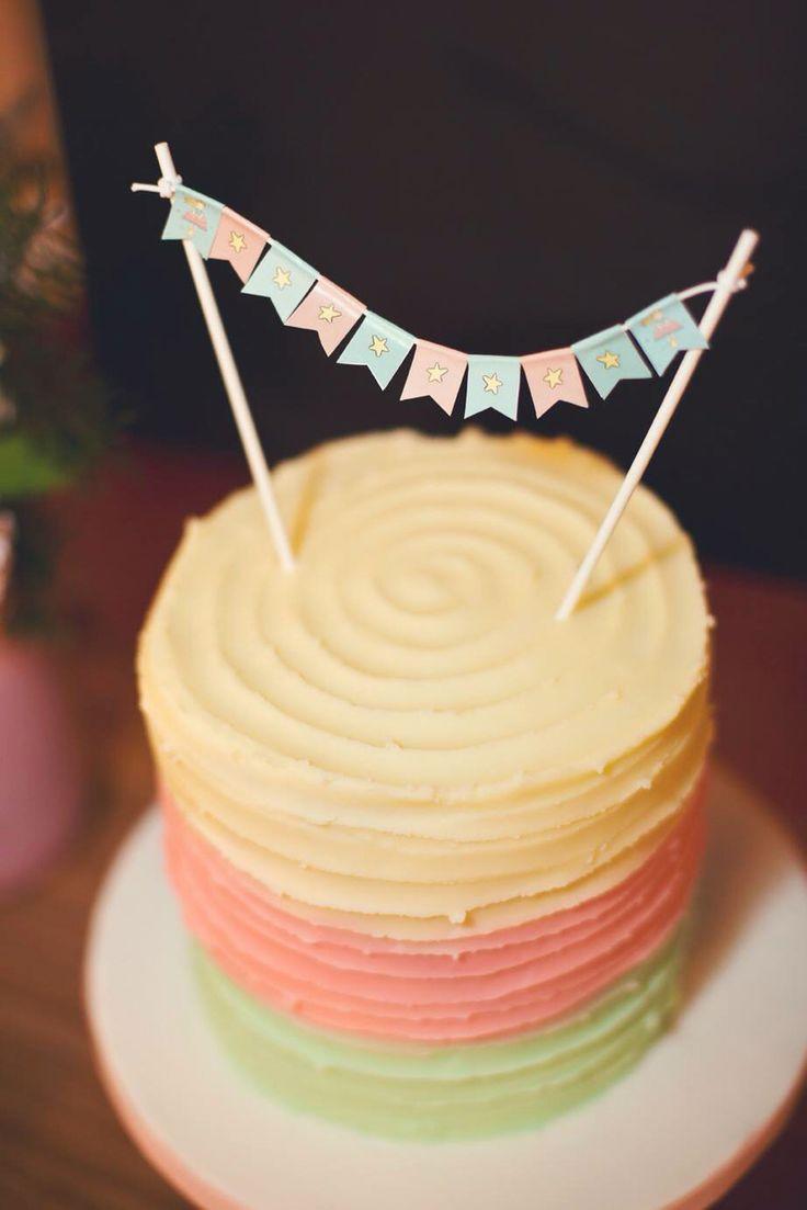 Little star.Birthday cake