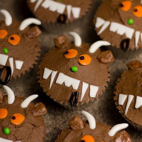 Gruffalo cup cakes