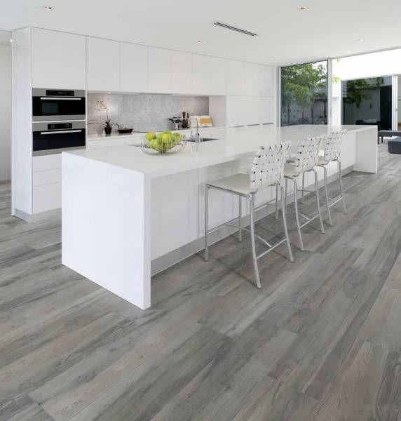 carrelage imitation parquet gris (con imágenes)   Cocina ...