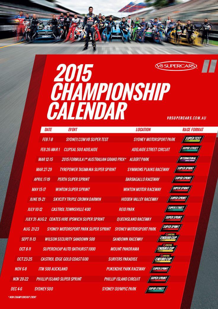 V8 Supercars announces 2015 calendar
