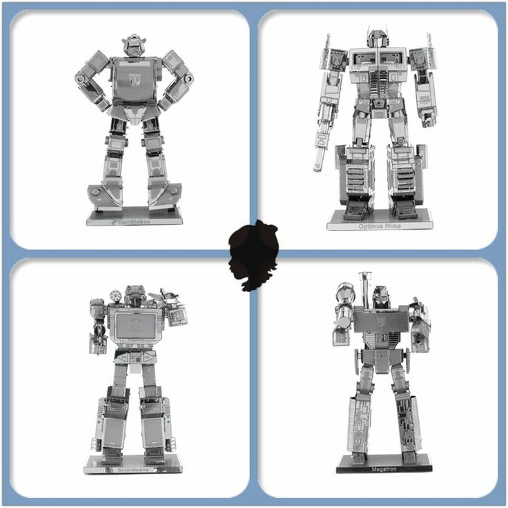 JWLELE Alloy material 3D Metal Model Puzzle Autobots and Decepticons 4 styles Optimus Prime Bumblebee Megatron Assembling //Price: $5.99 & FREE Shipping //     #hashtag1
