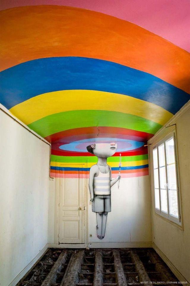 Fifty Street Artists Descend on Condemned Parisian Nightclub Les Bains #streetart