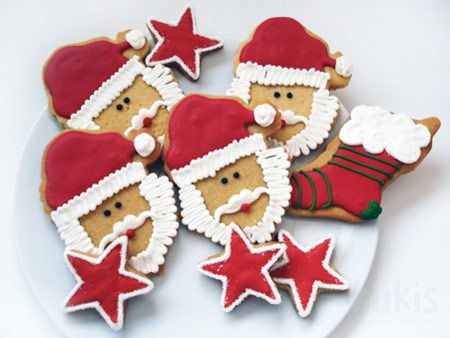 galletas-papa-noel: Christmas Cookie, Cookie, Cookie, Recetas Galleta, Recipes, Christmas, Galleta Papa Noel, Decorated Cookie