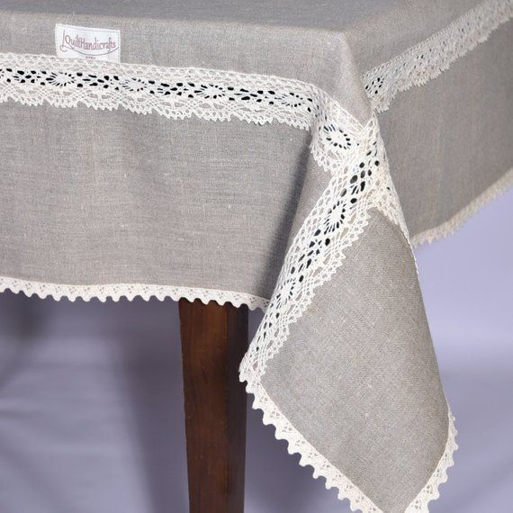 Wide Linen Tablecloth Width 64 80 Hobbies List In 2020 Tischwasche Gardinen Spitze