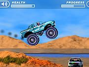 4 Wheel Madness Flash Game. Unleash your madness, drive a monster truck over hills, cars and other things. Play Fun Car Monster Trucks Games Online.