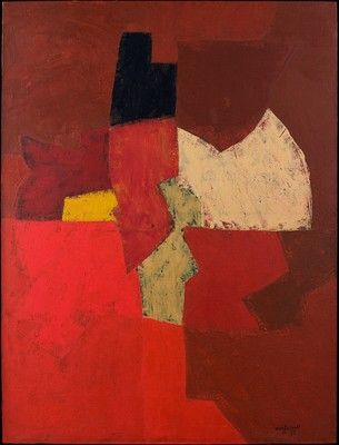 Serge Poliakoff - Rouge,1953