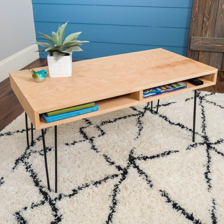 Pin By Product Bureau On Tables Coffee Side: Saturday Morning Workshop: Hairpin Leg Coffee Table