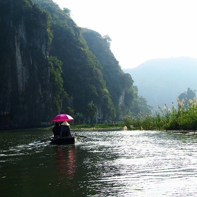 Hoa Lu, Vietnam #traveltheworld #travelvietnam #boatride #beautifulvietnam #ricefielfs