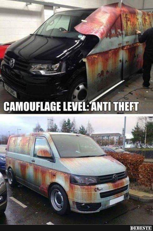 Camouflage level - Anti-Dieb | Lustige Bilder, Sprüche, Witze, echt lustig