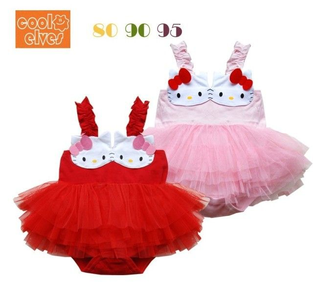>> Click to Buy << 2016 New baby romper bebe infant girls Hello kitty cute lace tutu tank dress romper red and pink color for 0-18 months #Affiliate