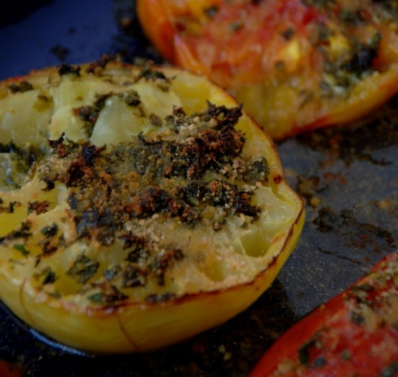 Heirloom Tomatoes au Gratin: Baby Blog, Foodie Baby, Gratin, Tomatoes Au, Photo, Heirloom Tomatoes