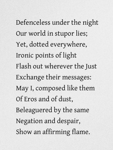 """from """"September 1, 1939"""" by W.H. Auden"""
