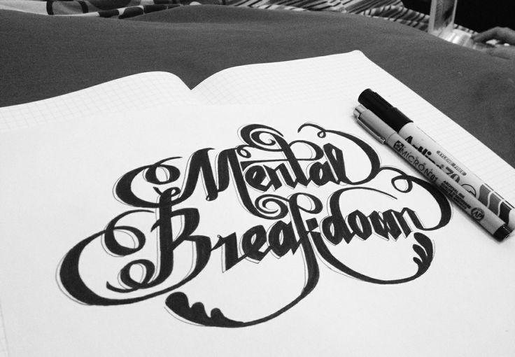 Mental Breakdown (MTBD) - CL of 2NE1 #handlettering #typography