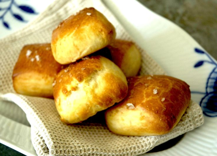 fresh from the breakfast oven - heavenly light milk rolls - layered with load of butter and a sprinkle of flaky sea salt