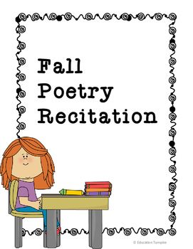 Students need to practice public speaking. What better way then to have them recite a seasonal poem. This Activity includes a scoring rubric along with a description for the students with fill-ins for dates and state curriculum standards.