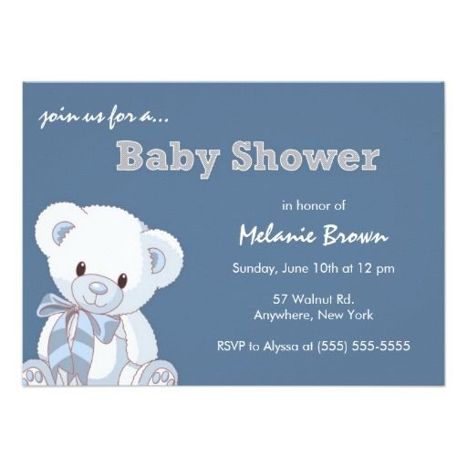 322 Best Images About Bear Baby Shower Invitations On