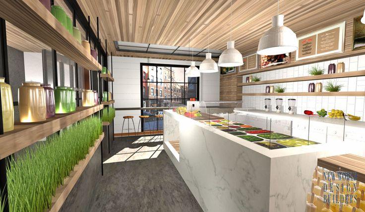 JUICE BAR FINAL RENDERING 12.29 | Business Idea | Pinterest | Juice Bar  Design And Cafe Design