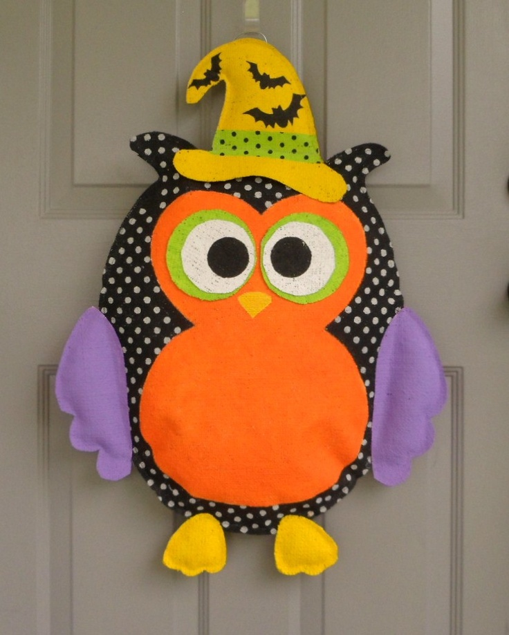 Decorating Ideas > 1000+ Images About All Unique Things On Pinterest  Burlap  ~ 102409_Halloween Owl Door Hanger