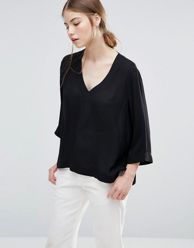 Buy it now. Just Female Request Blouse - Black. Top by Just Female, Lightweight woven fabric, V-neckline, Cropped sleeves, Side splits, Regular fit - true to size, Hand wash, 52% Viscose, 48% Rayon, Our model wears a UK S/EU S/US XS. ABOUT JUST FEMALE Established in 2006, Copenhagen-based fashion label Just Female is the brainchild of designer Penille Andersen. Building a strong identity through its edgy designs, Just Female combines clean lines and raw detailing, giving a nod to urban chic…