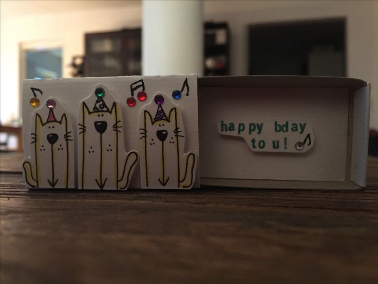 Little bday matchbox card