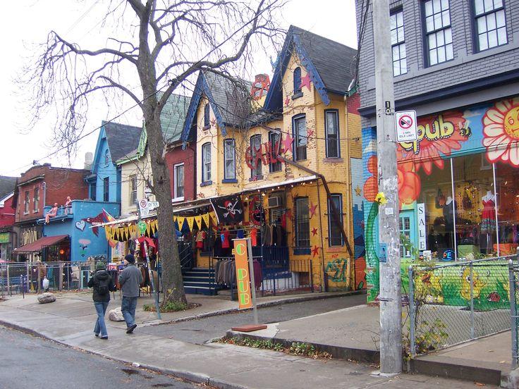Toronto-Kensington Market. werelds eten bij de verschillende restaurantjes en kunst op straat