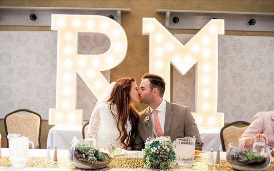lichtletters maken voor je bruiloft