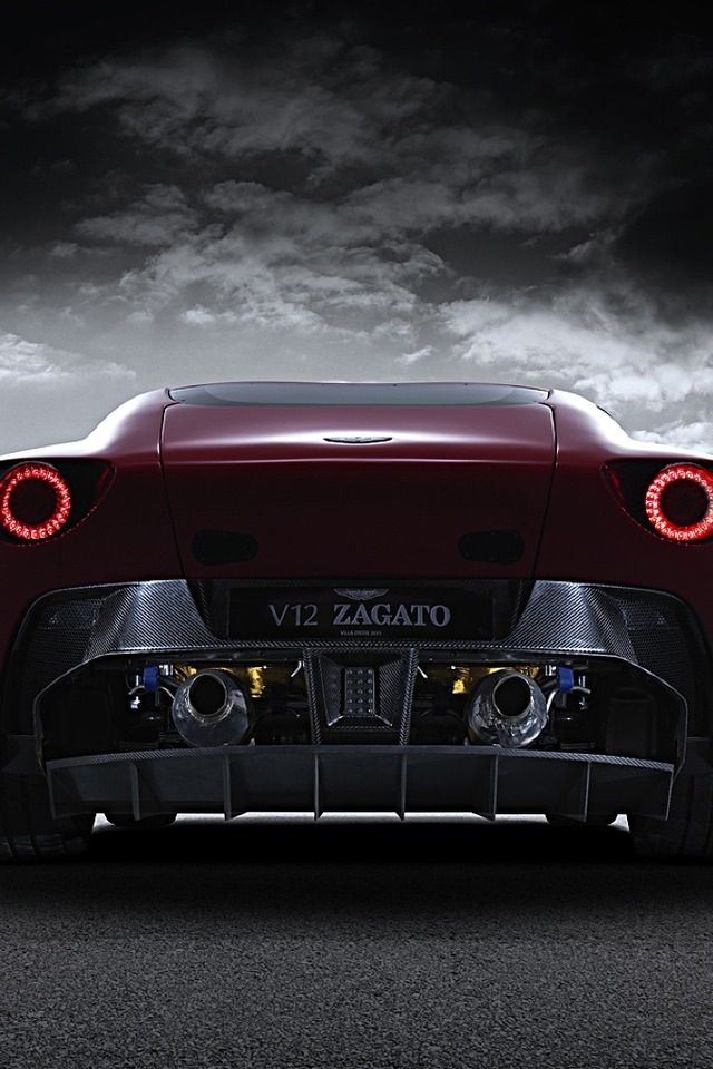 Aston Martin Zagato V12 riding into the storm