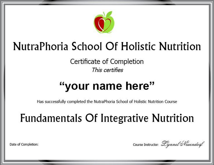 Certification Programs Online: Holistic Nutrition