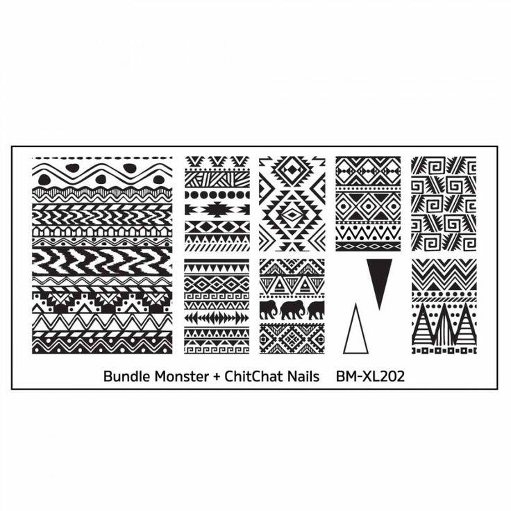 Blogger Collaboration Nail Art Polish Stamping Plates - BM-XL202, ChitChat Nails