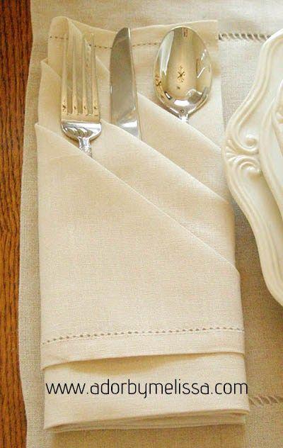 17 mejores ideas sobre doblar servilletas de papel en - Servilletas decoradas de papel ...