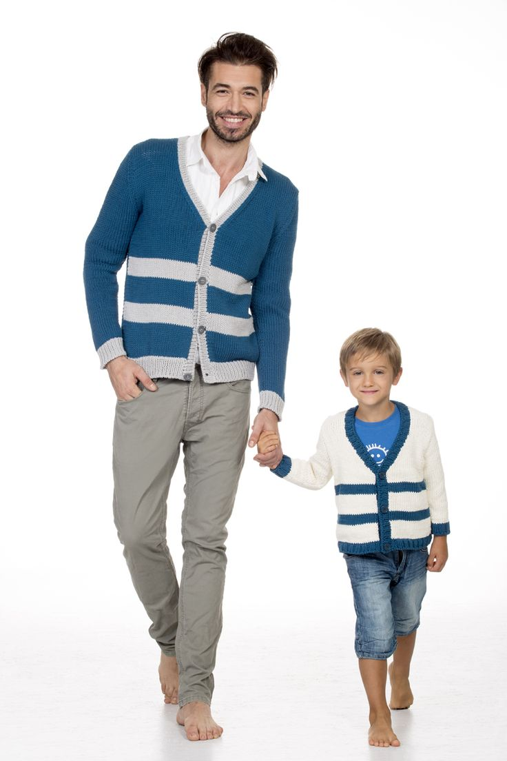 "Completo ""dad & son"" #completo #dadandson #white #and #blue #pullover #cardigan #springsummer #magazine #27 #mondial #filatimondial #yarns #cotton #mondialmodels #staytuned"