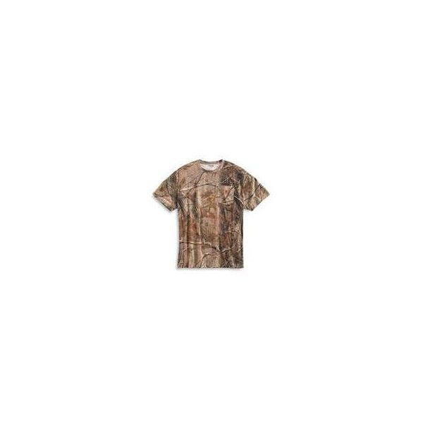 Carhartt Work Camouflage AP Short Sleeve T Shirt - K287 ($39) ❤ liked on Polyvore featuring tops, t-shirts, brown top, camouflage t shirt, camo t shirt, short sleeve tee and camo tee