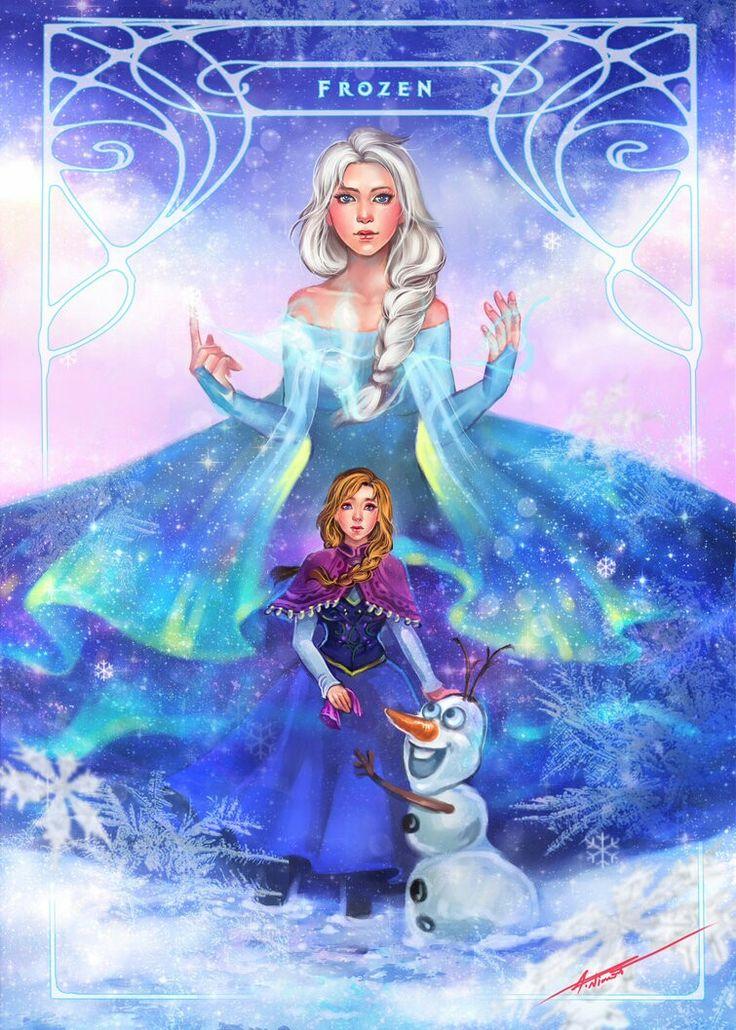 Elsa, Anna, and Olaf.