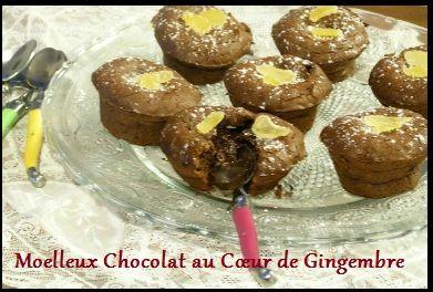 Recette du blog pockcath : un bon moelleux chocolat au coeur de gingembre, idéal pour la St Valentin http://www.laguiole-attitude.com/fr/couvert-service/141-coffret-6-cuilleres-a-cafe-ambiance.html