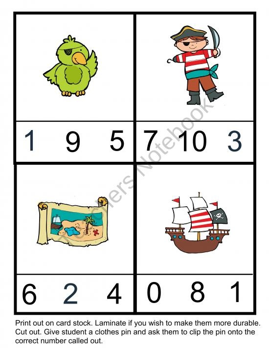 Pirate Preschool Pack from Homegrown Love 101 on TeachersNotebook.com (16 pages)  - Pirate Preschool Pack