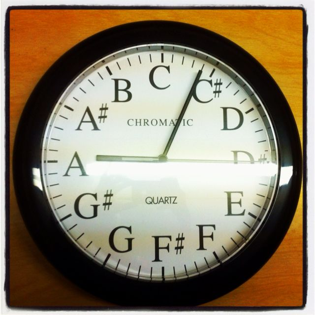 Look! A clock for my band director that finally will remind him to let us out on time!