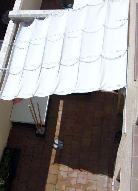 Toldo DIY http://decoraconideas.blogspot.com.es/2013/06/toldo-corredizo-casero.html