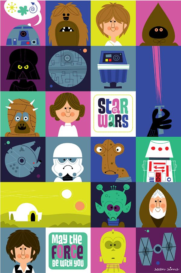 Star Wars on Behance... Aka: what looks like Star Wars kid art! I LOVE it!