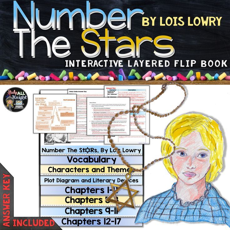 NUMBER THE STARS BY LOIS LOWRY: INTERACTIVE LAYERED FLIP BOOK LITERATURE GUIDE ($)