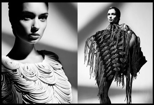 Stunning black and white fashion portraits from Uli Weber featuring clothes by wunderkind Derek Lawler