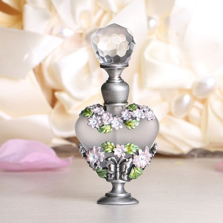 Stokrotka Pospolita Projekt 8 ml Retro Antyczne Szkła i Metalu Ponownego Napełnienia Butelki Perfum Butelki Malowanie Kwiat Pusty Pojemnik Kosmetyczny