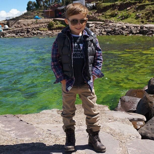 Diesel jeans, AllSaints boots, Gucci shades, Moncler vest | Alonso Mateo, The 5-Year-Old Boy Who's Become an Instagram Style Icon - The Cut