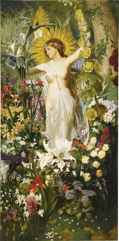Valentine Walter Bromley (1848 - 1877) - Flora: