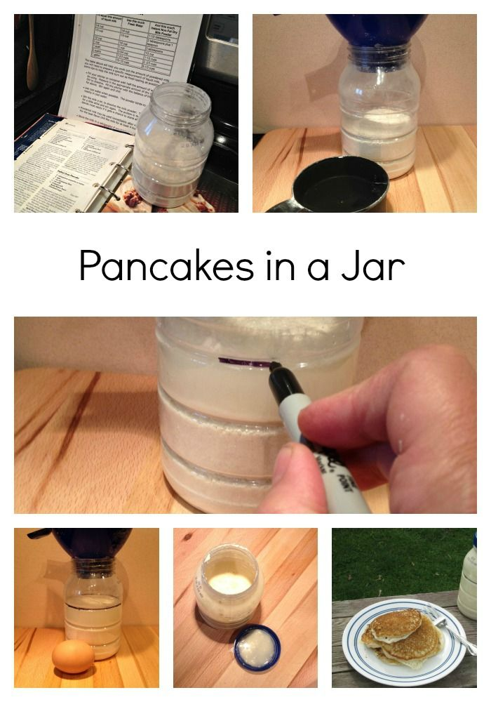Pancakes in a Jar for Camping