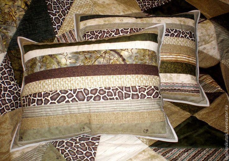 Наволочки комплект 2шт. - печворк,лоскутный,лоскутная подушка,подушка на диван