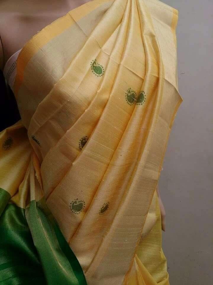 Raw silk handloom saree