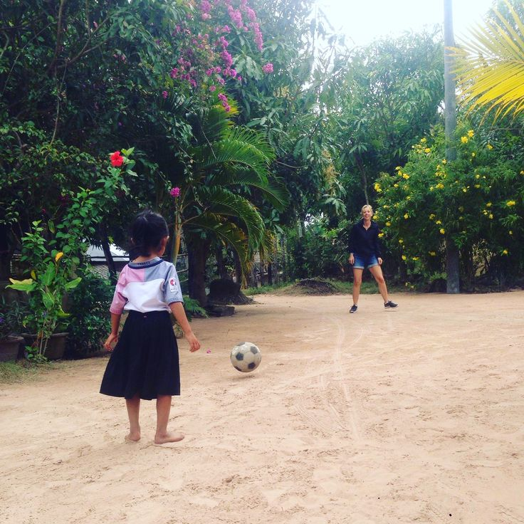 Football or soccer is one of the most popular sports in Cambodia, especially, in the countryside. Every kid gets at least one uniform of that football cloth, even though, they don't play it at all.   #bestdaytours #roadbikevacation #adventurebiketrip #cambodiatourismplaces #findalocaltourguide #cambodiaholidaypackages #daytripsfromsiemreapcambodia #touragencyincambodia #bikeroute  #findatourguide #educationaltoursforstudents  www.butterflytours.asia