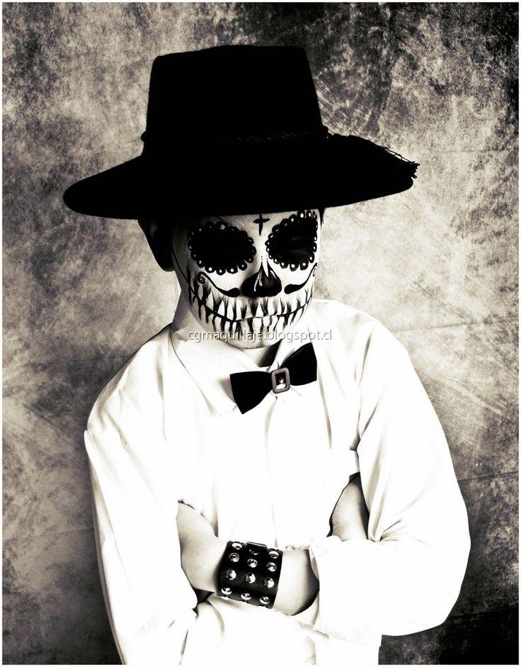 Maquillaje El Catrino #maquillaje #calavera #niño #skull #sugarskull #catrina #diadelosmuertos #halloween Santiago de Chile